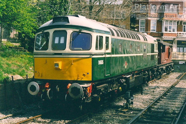 Preserved Class 33 D6515 Stan Symes is seen stabled at Swanage in Dorset on 22nd April 2003.